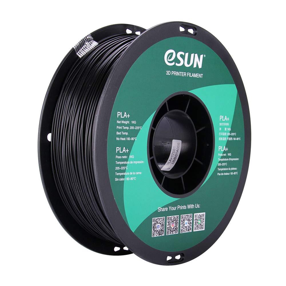 Filament 3D PLA Esun Black 1.75mm 1kg
