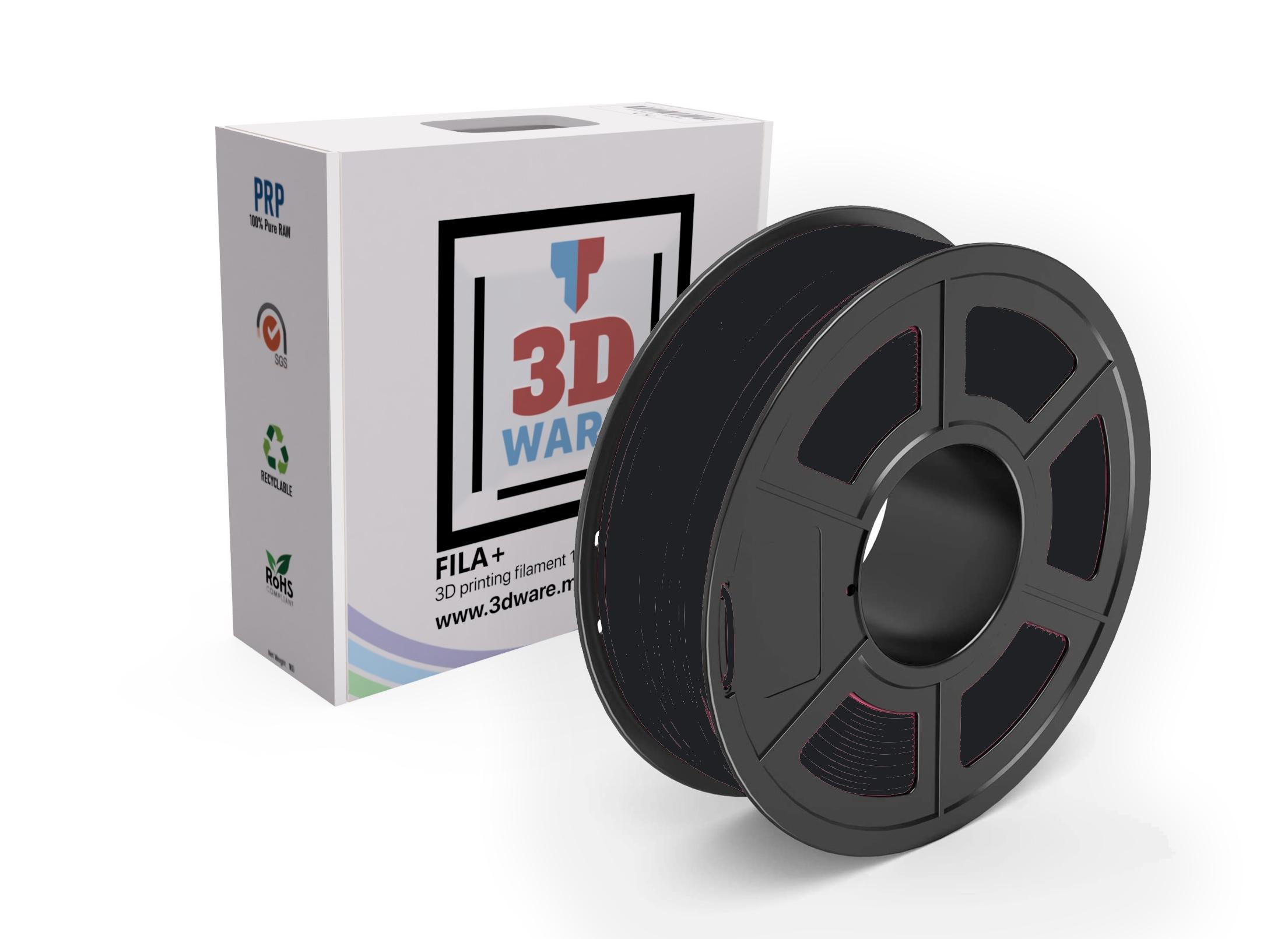 Filament 3D FILA+ Flexible TPU Noir 1.75mm 1kg