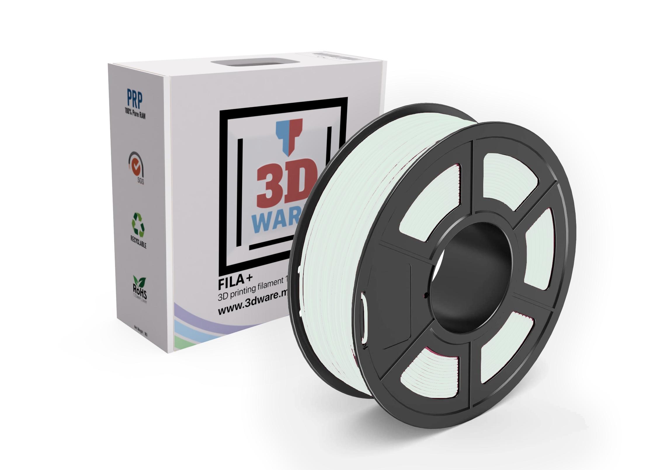 Filament 3D PETG Blanc 1.75mm 1kg
