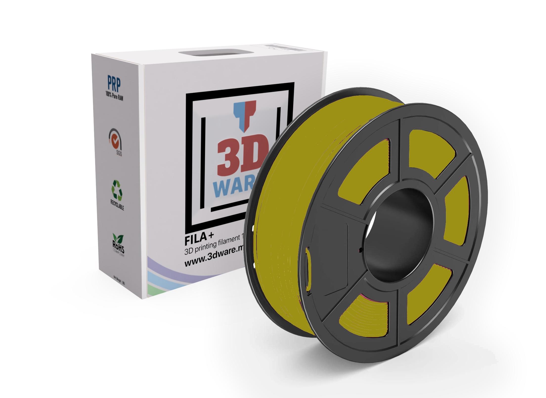 Filament 3D FILA+ ABS Jaune 1.75mm 1kg
