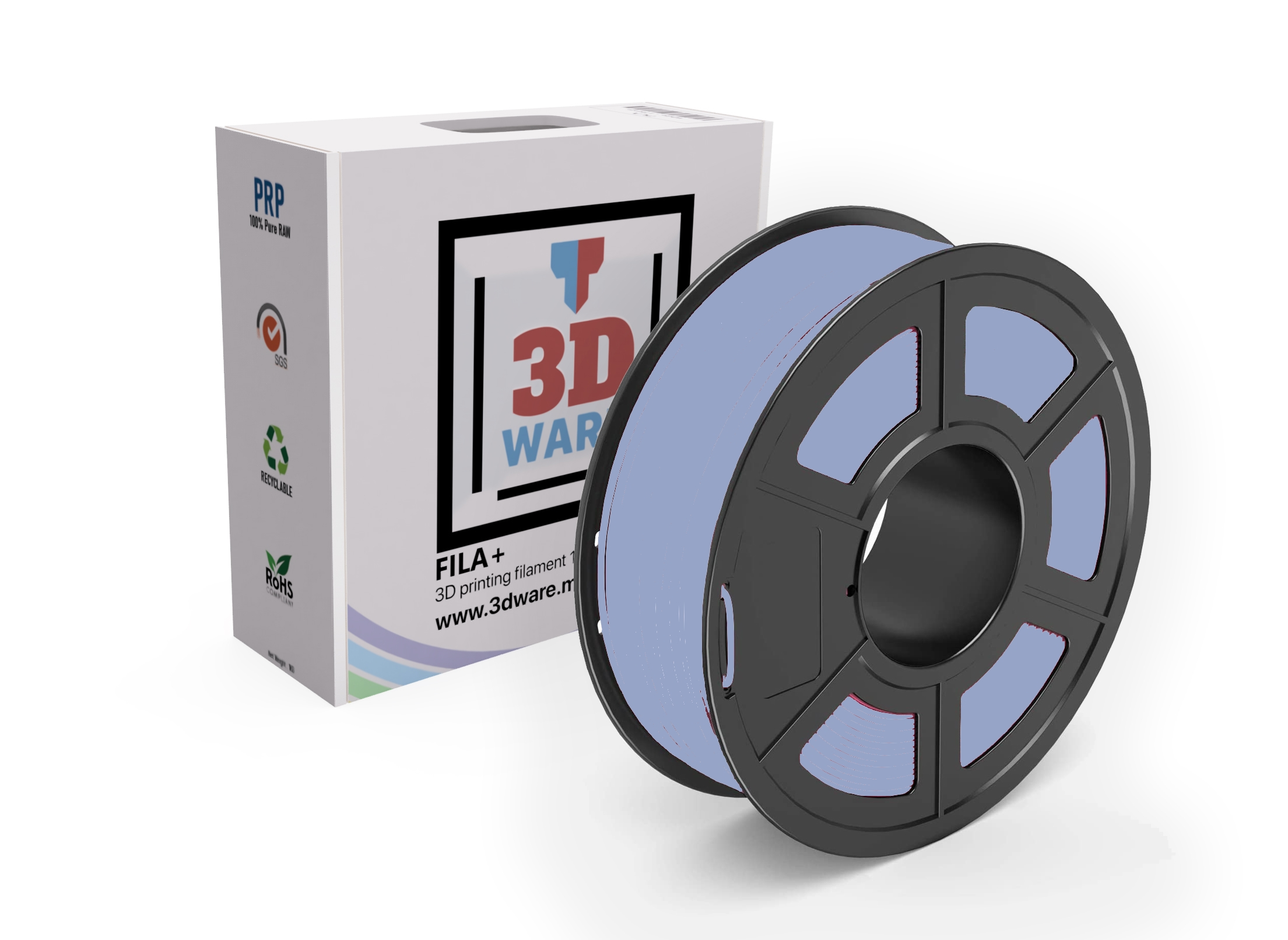 Filament 3D PLA FILA+ Standard Argent 1.75mm 1kg